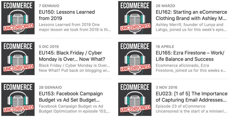 Ecommerce Uncensured podcast