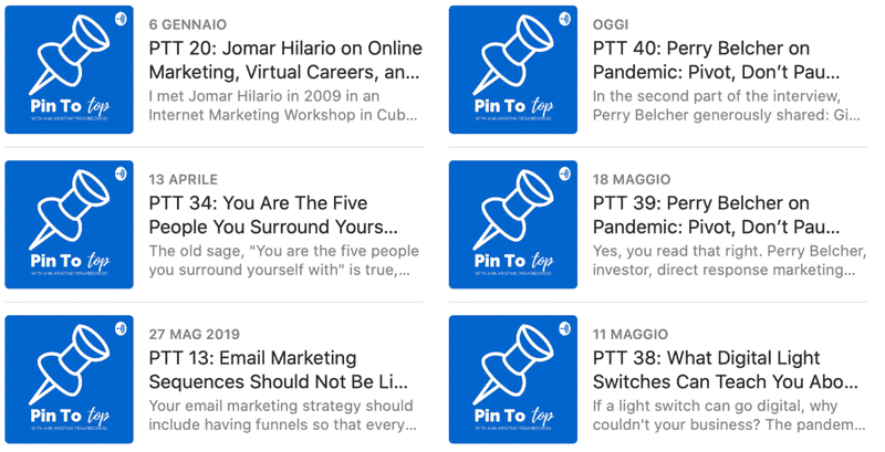 Pin To Top Facebook Marketing Podcast