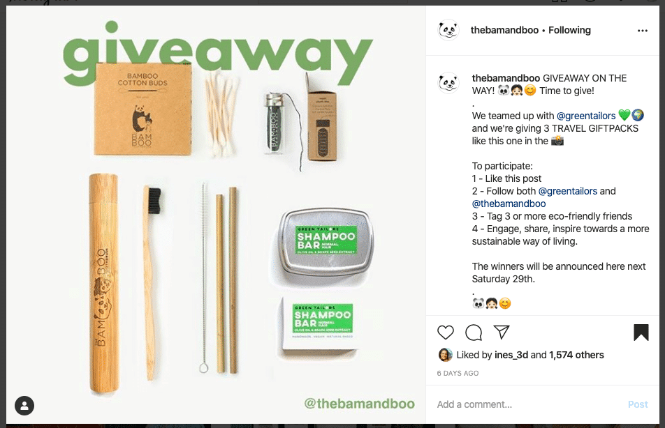 The Bam and Boo Instagram giveaway. Follow and Tag to win