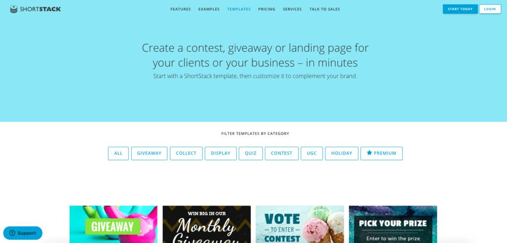 Shortstack - Instagram Giveaway tool