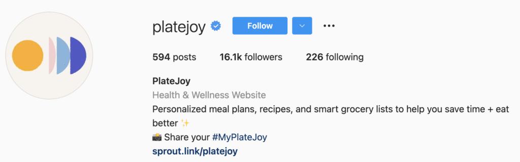 Instagram Bio Examples Platejoy