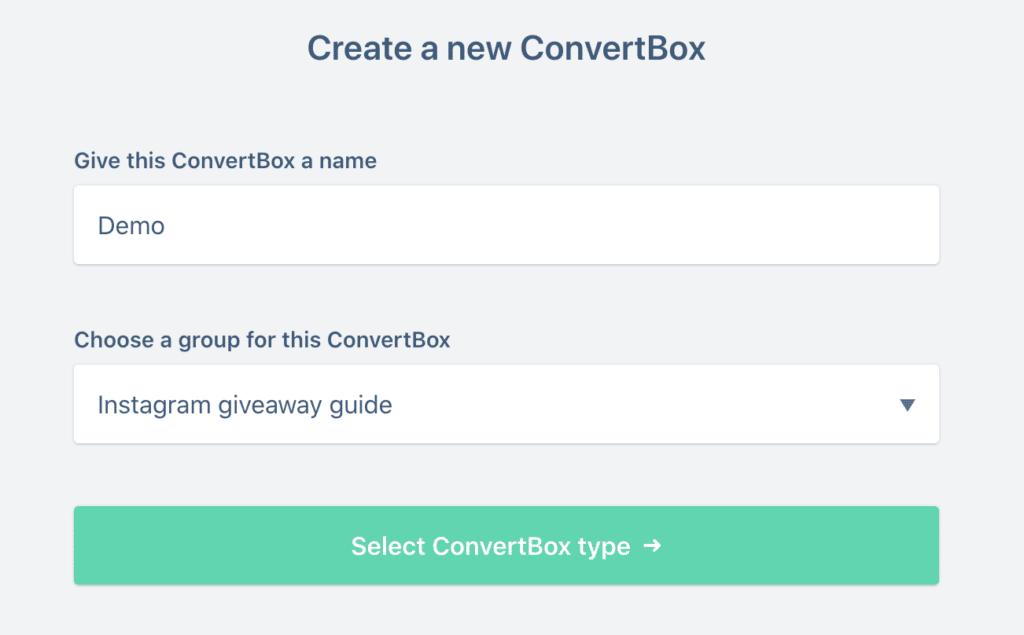 Convertbox popup creation 1
