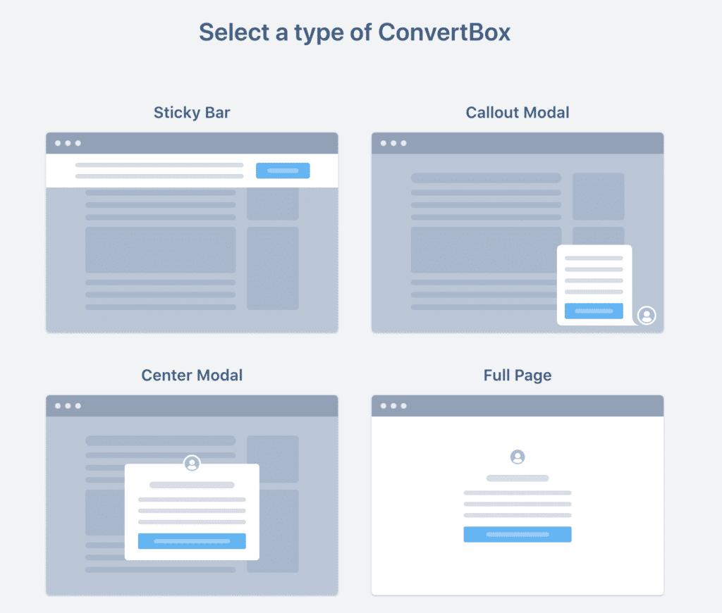 Convertbox popup creation 2