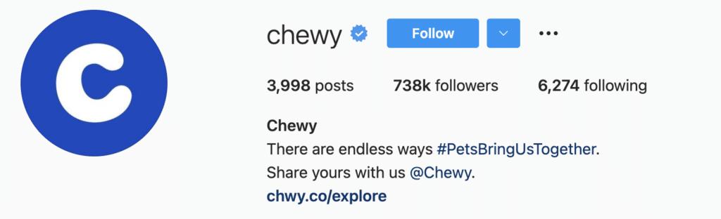 Instagram Bio Examples Chewy