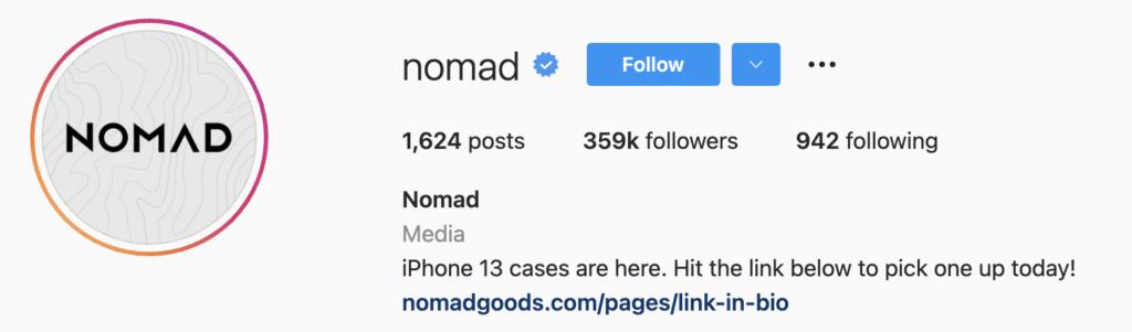 Instagram Bio Examples Nomad
