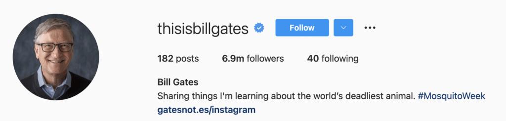 Instagram Bio Examples Entrepreneurs