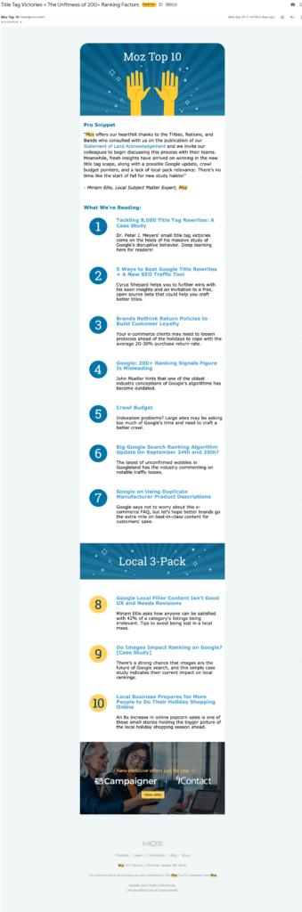 Saas Newsletter Examples